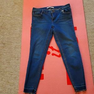 Zara frayed edge jeans